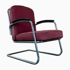 Mid-Century Bauhaus Steel Cantilever Chair from Mauser