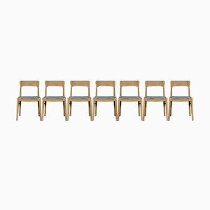 Chaises de Salon en Chêne de KS Møbler, Danemark, Set de 7