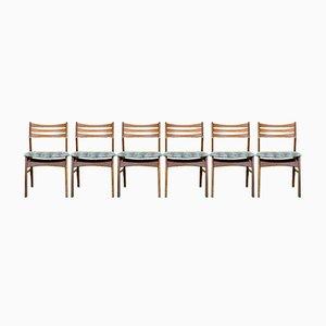 Danish Teak Dining Chairs, Set of 6