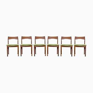 Chaises de Salle à Manger Mid-Century en Teck par Henning Kjærnulf pour Vejle Mobelfabrik, Set de 6