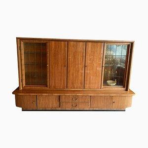 Mid-Century Wohnzimmer Schrank aus Massivholz