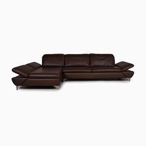 Brown Leather Taoo Corner Sofa by Willi Schillig