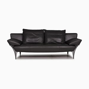 Grey Leather 1600 Three-Seater Sofa by Rolf Benz