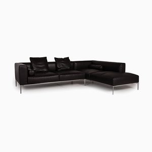 Dark Brown Leather Corner Sofa by Jaan Living for Walter Knoll / Wilhelm Knoll
