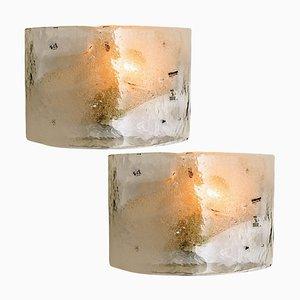 Sconces in Murano Glass from AV Mazzega, 1970s, Set of 2