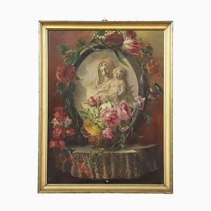 Vierge à l'Enfant, Huile sur Toile