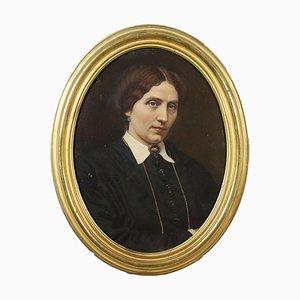 Ritratto femminile, olio su tela