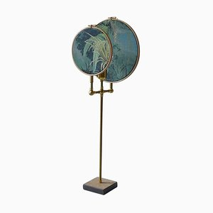 Circle Blue Grey Table Lamp by Sander Bottinga
