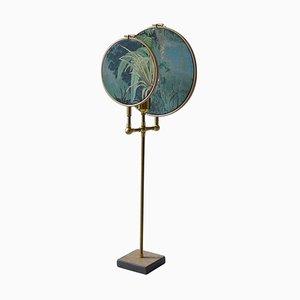 Circle Tischlampe in Blaugrau von Sander Bottinga