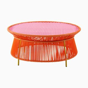 Orange Rose Caribe Low Table by Sebastian Herkner