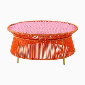 Orangefarbener Caribe Low Table von Sebastian Herkner