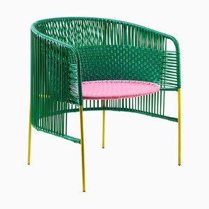 Grüner Caribe Sessel von Sebastian Herkner
