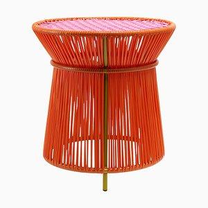 Orangefarbener Caribe High Table von Sebastian Herkner