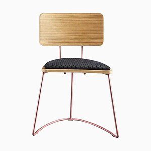 Schwarzer Boomerang Chair von Cardeoli
