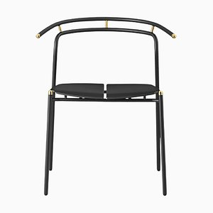 Black and Gold Minimalist Dining Chair