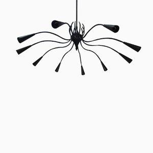 Lámpara de araña Ragno italiana, años 50