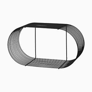 Large Black Contemporary Shelf