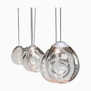Double Momentum Blown Glass Pendants by Alex De Witte, Set of 2