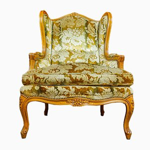 Vintage Baroque Style Armchair with Floral Upholstery