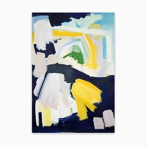 Sonnige Nacht, abstraktes Gemälde, 2020