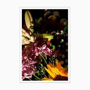 Colorful Flower Bouquet Mix, Summer Light Still Life, Giclée Print, 2021