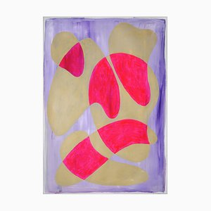 Courbes Rose Vif et Crème, Formes Avant Garde, 2021