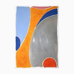 Fiori di campo colorati, pittura astratta verticale, 2021