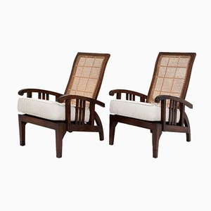 Arts and Crafts Steamer Armchairs, Set of 2