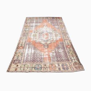 Antique Turkish Oushak Handmade Wool Carpet