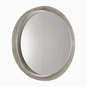 Beleuchteter runder Spiegel aus Plexiglas
