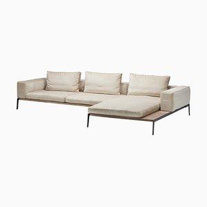Weißes Lifesteel Drei-Sitzer Sofa von Antonio Citterio für Flexform