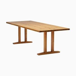 Kiefernholz Esstisch von Le Corbusier