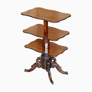 Antiker kubanischer Dumbwaiter Tisch aus Hartholz, 2er Set