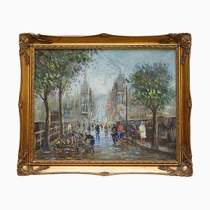 French Parisian Painting, Oil on Canvas