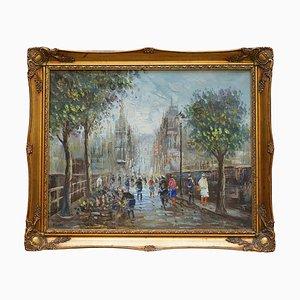 Peinture Parisienne, Huile sur Toile
