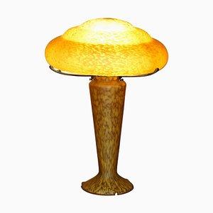 Glas Tischlampe von Emile Galle, Frankreich, 1900-1920