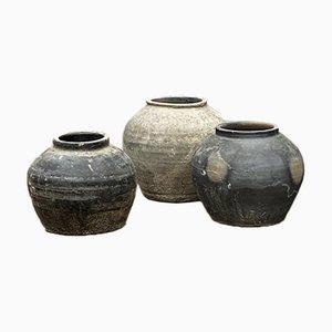 Grey Pots, Set of 3