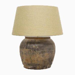 Lampe mit Leinen Lampenschirm