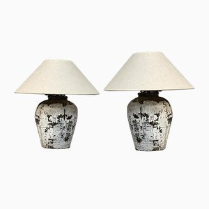 Vintage Pots Made Into Lamps, Set of 2