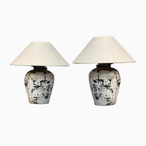 Vintage Töpfe aus Lampen, 2er Set