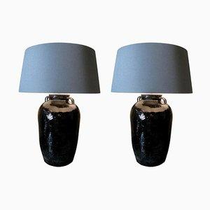 Ceramic Lamps, Set of 2