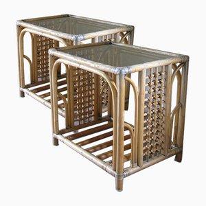 Tables de Chevet en Bambou, Set de 2