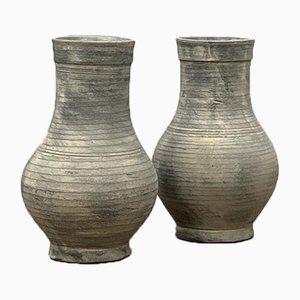 Clay Pot Vases, Set of 2