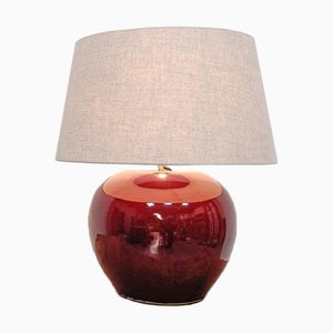 Oxblood Colored Pottery Lamp