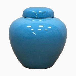 Pot Décoratif Émaillé Turquoise