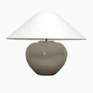 Lampe Pot Vernie Blanche