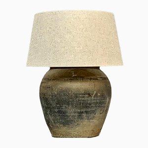 Lampe de Bureau avec Abat-Jour en Lin Blanc