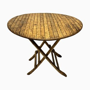 French Bamboo Clad Folding Table, 1930s