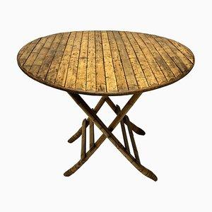 Table Pliante en Bambou, France, 1930s