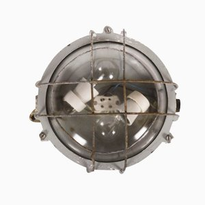 Cast Iron Industrial Wall Lamp, 1950s